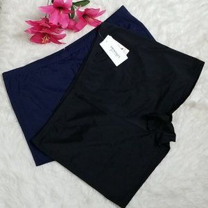 Swimsuits for All black & navy swim shorts bundle